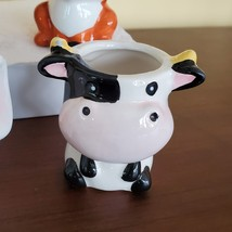 Cow Planter with Succulent, Live Plant Gift, Echeveria Agavoides, Farm Animal image 6
