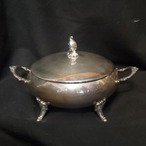 Vintage Baroque Covered Vegetable Serving Dish (2157) by Wallace Silver C - $193.50