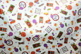 BOOPITY BOO-HALLOWEEN CANDY FROM RJR - 100% COTTON FABRIC  - $7.91