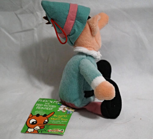 "Tall Elf CVS 1998 9"" Plush Rudolph Island of Misfit Toys Beanie"