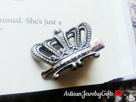 Silver Crown Hair Clip Antique Silver Crown Hair Clip Women's Gift For H... - €23,09 EUR