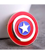 Variation #2 of Captain America Shield Round Small Icon Pins Brooch For ... - $19.22