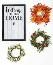 4-Pc. Interchangeable Welcome To Our Home Wreath Sign Wall Art Plaque Ho... - €25,23 EUR