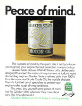 Vintage 1974 Quaker State DeLuxe Motor Oil Magazine Print Ad - $4.75