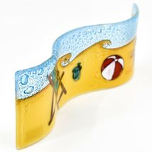 Fused Art Glass Beach Summer Waves Wavy Sun Catcher Handmade in Ecuador image 5