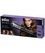 Braun Satin Hair 3 AS330 Brush Hair Styler Curling Iron With 3 Accessories - $235.66