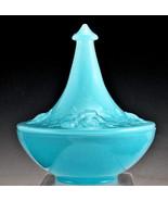 Houzex Convex (Spear) Powder Jar Blue Onxglas (Onyxglass) - $67.72