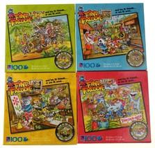 Sure Lox Find Freddie Glow In The Dark Puzzles 100 Pieces 4 Design Lot 1... - $20.79