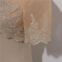 Long Sleeve Wedding Lace Cover Ups Retro Style Lace Bridal Boleros, white, plus image 8