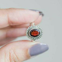 Garnet Solid 925 Sterling Silver Ring Band Handmade Vintage Style Ring k... - $11.49+