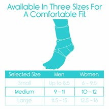 Vive Lace Up Ankle Brace - Foot Support - Size Medium (OPEN BOX NEW) USA----FL image 2
