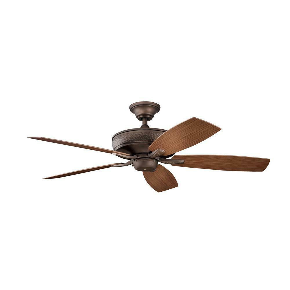 Kichler - Monarch II Patio 52 in. Outdoor Weathered Copper Mount Ceiling Fan - $222.74