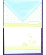 Hallmark Baby Boy Thank You Note Cards blue green set 50 blank 2 designs... - $17.77