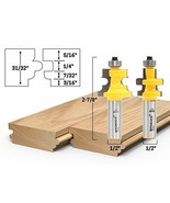 Yonico 15230 Flooring 2 Bit Tongue and Groove Flooring Router Bit Set 1/... - $38.57