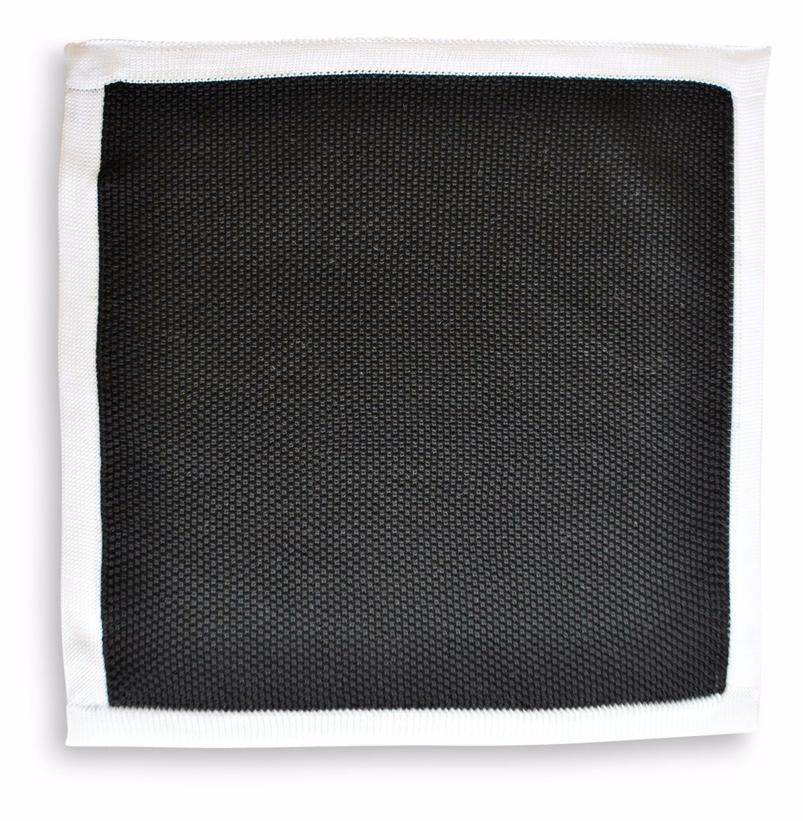 Frederick Thomas knitted pocket square handkerchief in black FT3164