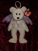 Halo 1998 RETIRED TY Beanie Baby Pink Iridescent Wings & Halo MINT CONDI... - $7,699.23