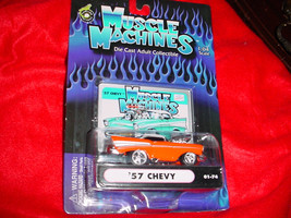 Muscle Machines '57 Chevy Orange 01-74 Free Usa Shipping - $11.29