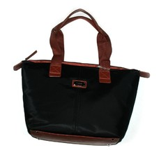 Nine West Women's Tote/Purse/Bag Black/Chocolate Trim, Nylon - $69.99