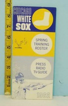 1962 Chicago White Sox Spring Training Roster Press Radio TV Guide - $34.60