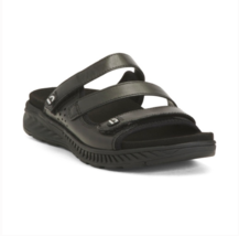 EARTH Mira Loures Black Leather Comfort Slide Sandals Sizes 8 9 open toe  - $74.99