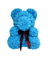 Blue Rose Bear for Birthday, Graduation, Wedding, Flower, Bear Gift - $148.49