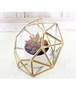 Garden Tabletop Diamond Glass Geometric Terrarium Indoor Balcony Display... - $40.00