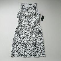 NWT LAUREN Ralph Lauren Folade in White Floral Sleeveless Sheath Dress 8 - $32.00