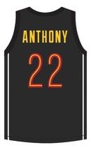 Carmelo Anthony Oak Hill Academy Basketball Jersey Sewn Black Any Size image 5