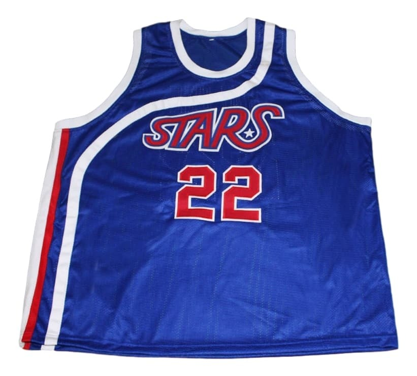 Moses Malone #22 Utah Stars New Men Basketball Jersey Blue Any Size