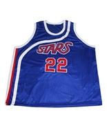 Moses Malone #22 Utah Stars New Men Basketball Jersey Blue Any Size - $44.99+