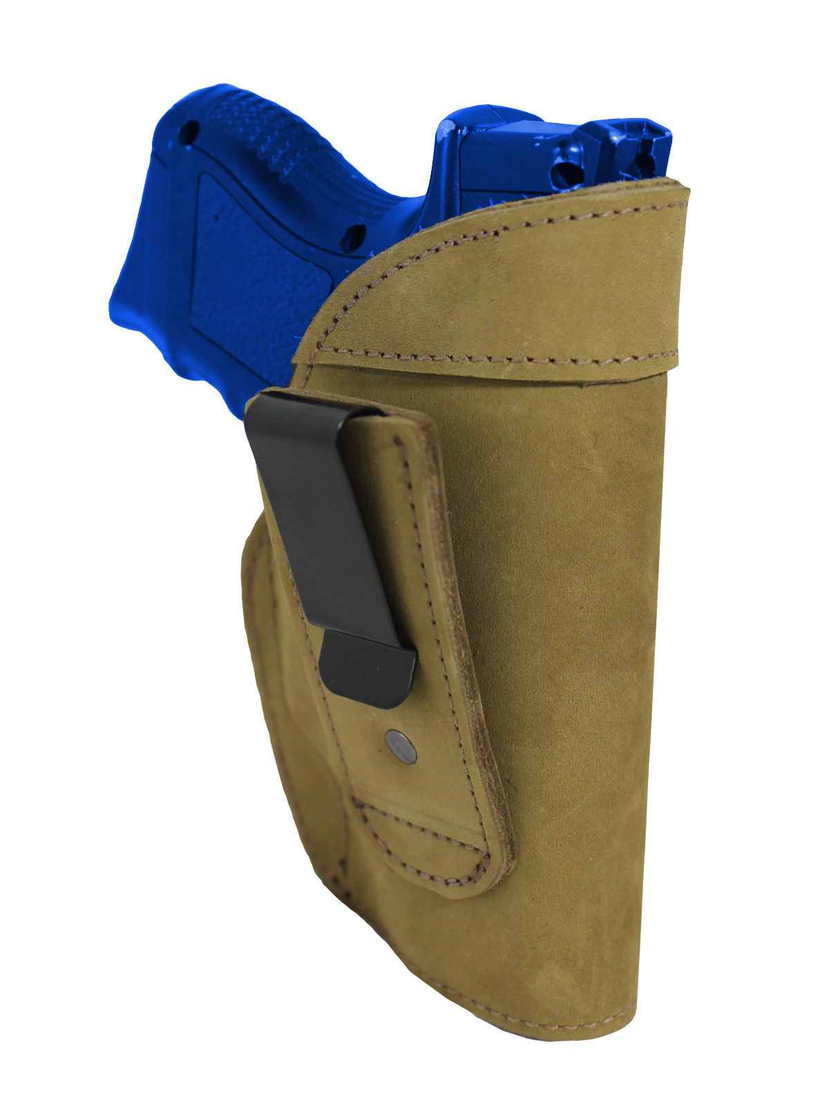 New Barsony Olive Drab Leather Tuckable IWB Holster Compact 9mm 40 45 Pistols
