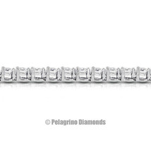 15ct I SI1 Round Earth Mined Certified Diamonds 14kw Gold Basket Tennis ... - $23,515.00