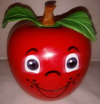 Vtg Fisher Price Happy Apple Chime Short Stem Baby Toy Wobble Roly Poly ... - $34.64