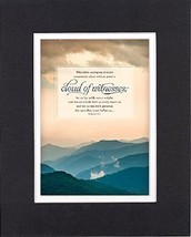 GoodOldSaying - Poem for Inspirations - Wherefore seeing we also are compassed a - $11.14
