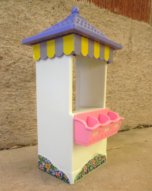 Primary image for Dollhouse Plastic Merchant Peddlers Flower Booth Stand 1:12 Scale