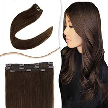 RUNATURE Human Hair Clip in Extensions Thin Remy 14 Inch 3pcs Clips on Remi Hair - $42.13