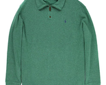 Polo Ralph Lauren Men's French-Rib Half-Zip Pullover-Green Heather Sweater - XXL
