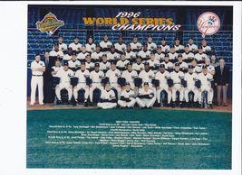 New York Yankees 1996 World Series Team Vintage 8X10 Color Baseball Photo - $4.99