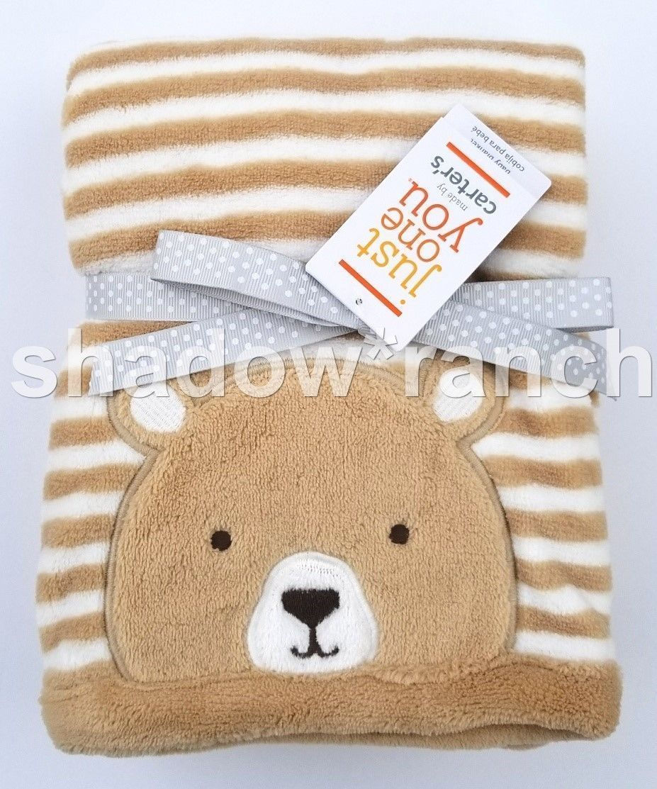 88530e8ee 57. 57. NWT Carters Just One You Brown White Bear Stripe Blanket Target  Plush Tan Lovey. Free Shipping