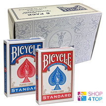 6 DECKS BICYCLE RIDER BACK NO FACE BLANK 3 RED 3 BLUE MAGIC TRICKS CARDS... - $31.18