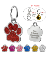Glitter Custom Pet Dog Tag Personalized Engraved Dogs Cat ID Tags Hook B... - $9.99