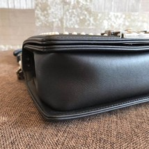 AUTHENTIC 2019 CHANEL BLACK Limited Edition Leather Small Boy Flap Bag image 5