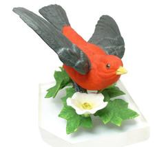 Scarlet Tanager Lenox Garden Bird Sculpture Col... - $29.95