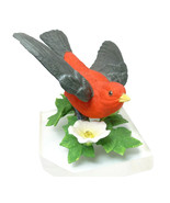 Scarlet Tanager Lenox Garden Bird Sculpture Col... - $29.95