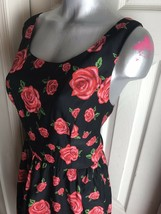 Forever 21+ Plus Sizes- Black Knee Length- Floral Red Roses Dress -size 1x - $20.69
