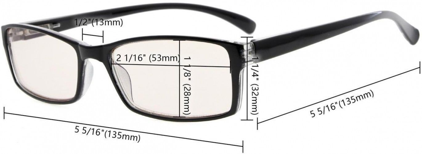 Eyekepper Computer Reading Glasses With More Than 80% Blue Blocking Yellow Tint