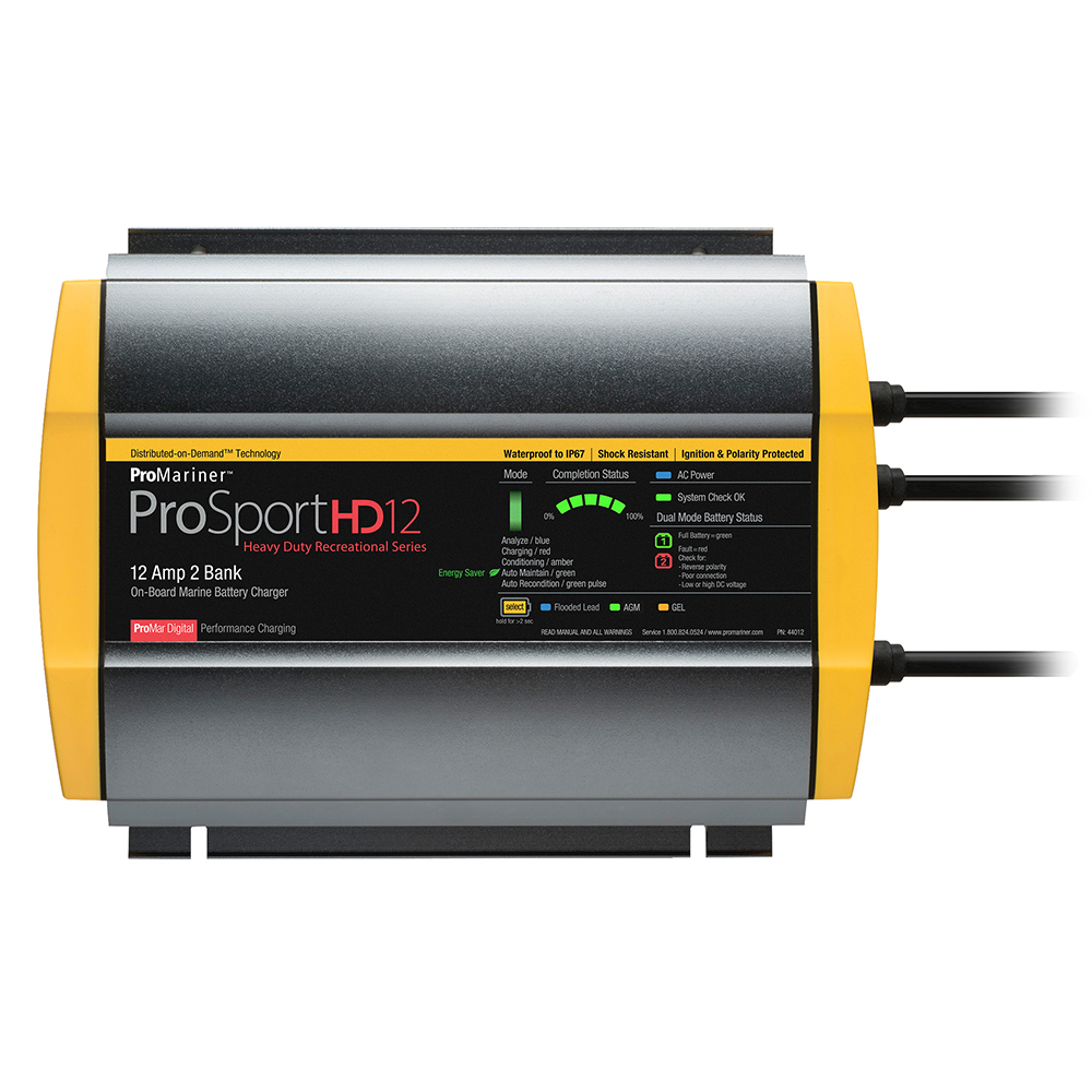 Primary image for ProMariner ProSportHD 12 Gen 4 - 12 Amp - 2 Bank Battery Charger [44012]