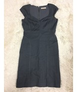 Rebecca Taylor Gray Cap Sleeve Sweetheart Neck Pencil Dress Size 6 - $24.75