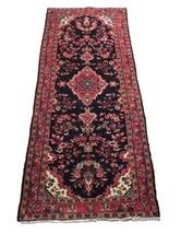 Tribal Wide Gallery Runner Persian Genuine Handmade 4x10 Black Sarouk Wool Rug image 1