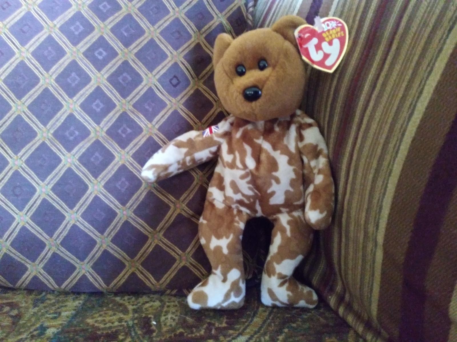 Ty Beanie Baby Hero Military UK Teddy Bear Stuffed Animal Plush